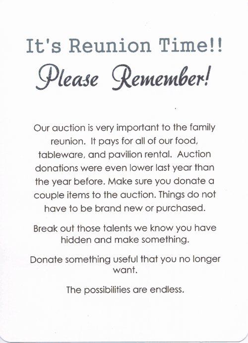Family Reunion Invitations Letter Awesome Family Reunion Invitation Letter