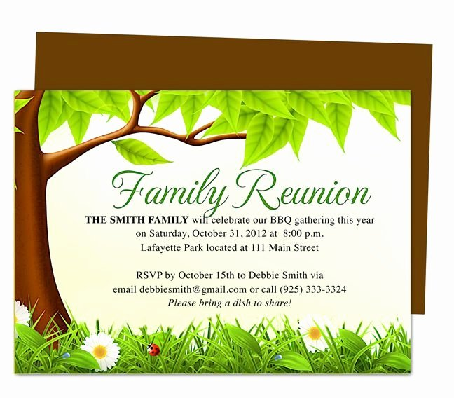 Family Reunion Invitations Letter Beautiful Family Tree Reunion Party Invitations Templates