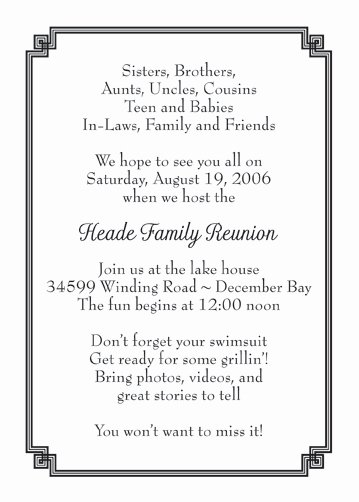 Family Reunion Invitations Letter Best Of Family Reunion Invitation Style Fr 05