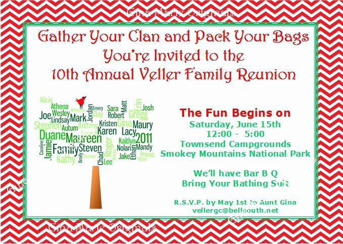 Family Reunion Invitations Letter Fresh Family Reunion Invitation Wording