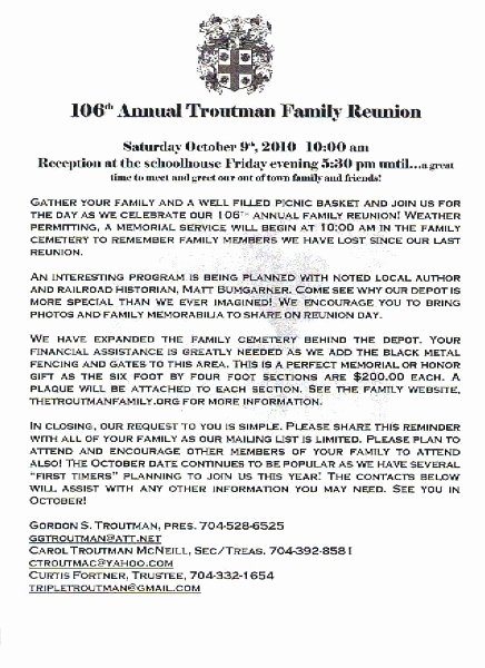 Family Reunion Invitations Letter Lovely 36 Best Images About Family Reunion Ideas On Pinterest