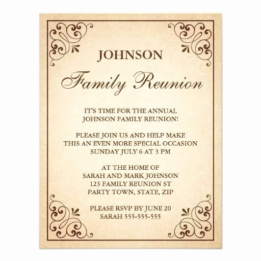 Family Reunion Invitations Letter Lovely Family Reunion Invitations Invitations