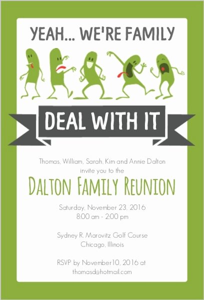 Family Reunion Invitations Letter Lovely Funny Family Reunion Invitation