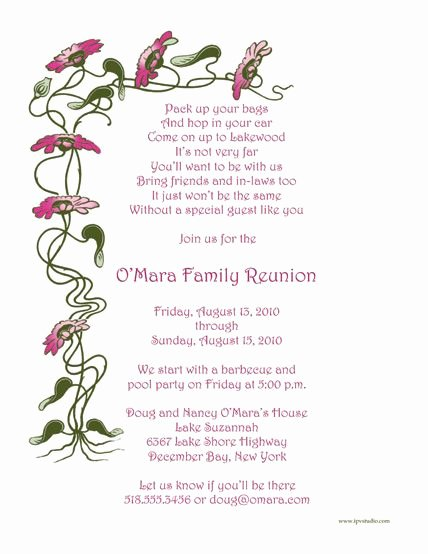Family Reunion Invitations Letter New Pin On Ideas