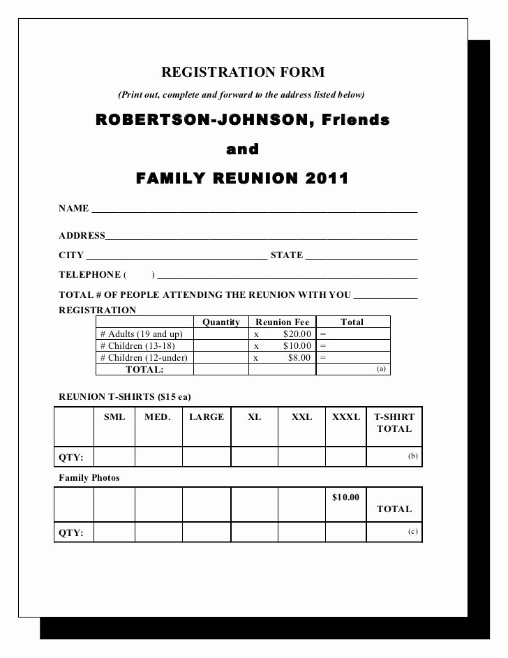 Family Reunion Letter Templates Best Of Robertson & Johnson Family Reunion Letter