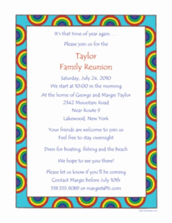 Family Reunion Letter Templates New Family Reunion Invite
