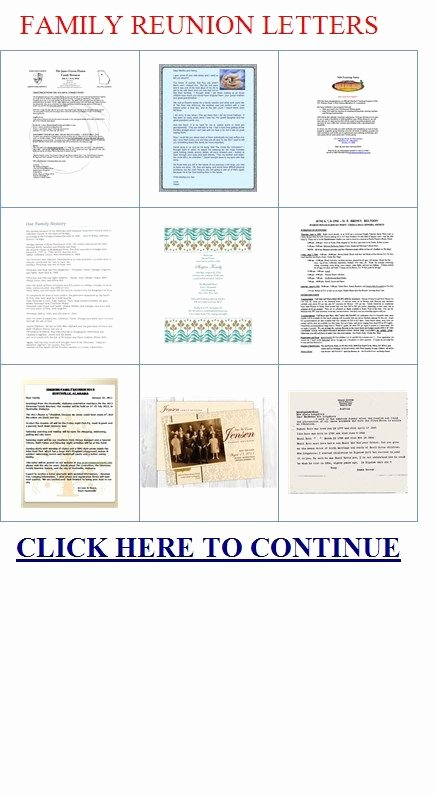 Family Reunion Letters Template Awesome African American Family Reunion