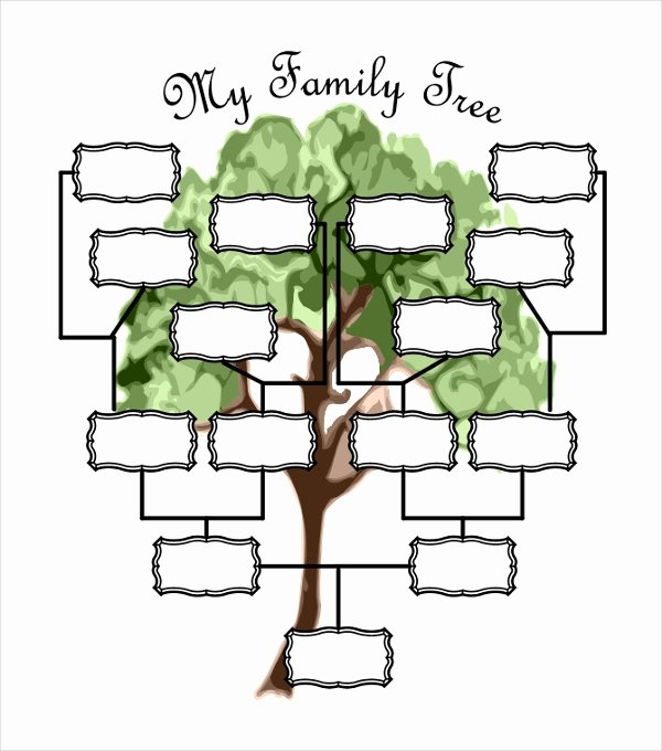 Family Tree Chart Template Awesome 51 Family Tree Templates Free Sample Example format