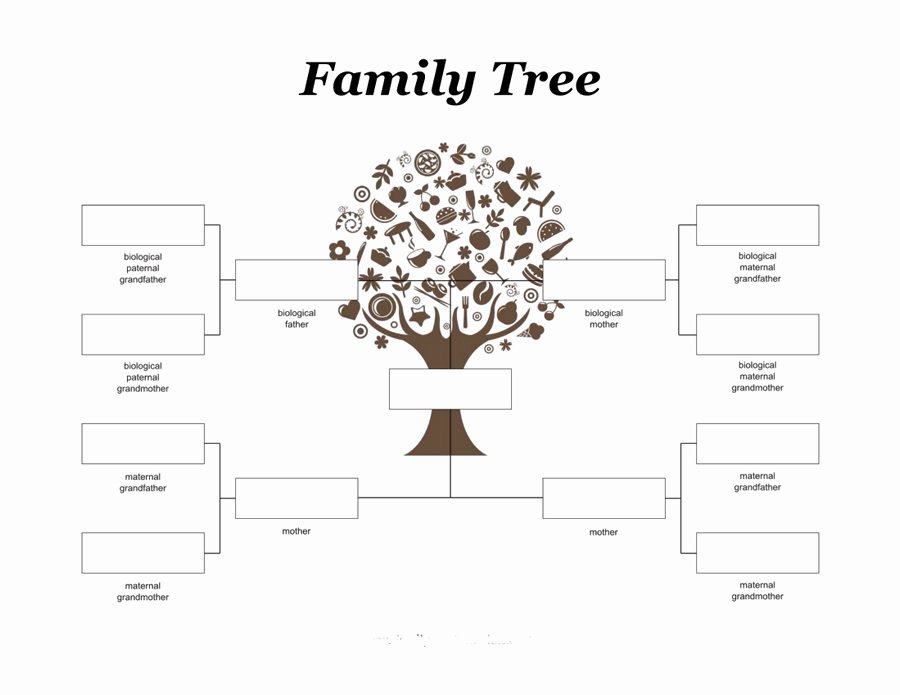 Family Tree Chart Template Beautiful Family Tree for Kids
