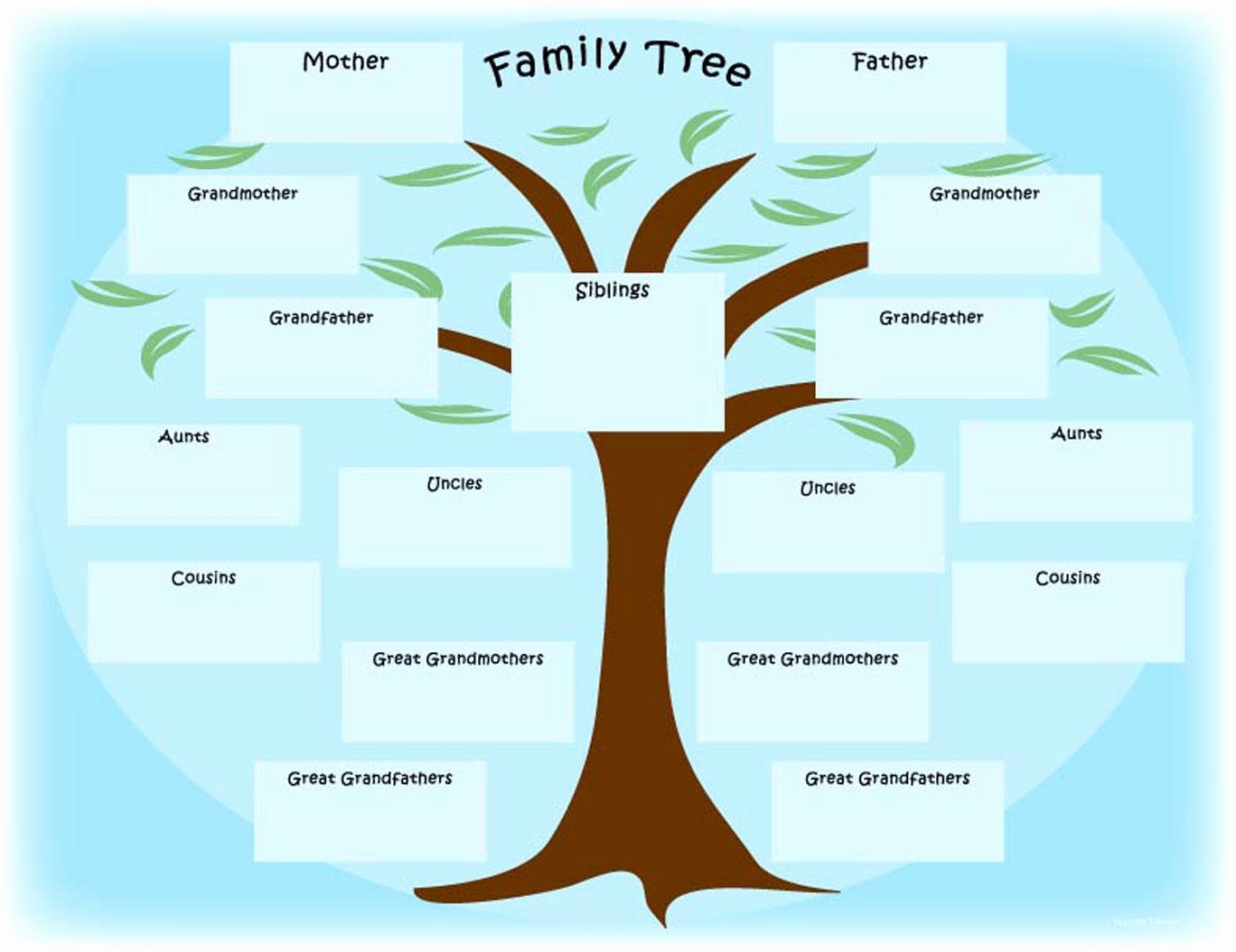Family Tree Chart Unique 15 Free Family Tree Template Chart & Diagram In Pdf
