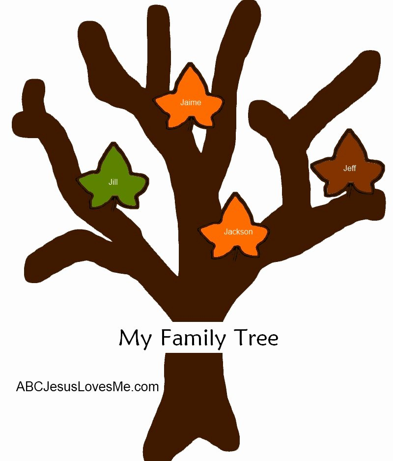 Family Tree Cut Out Awesome 2 Year Week 34