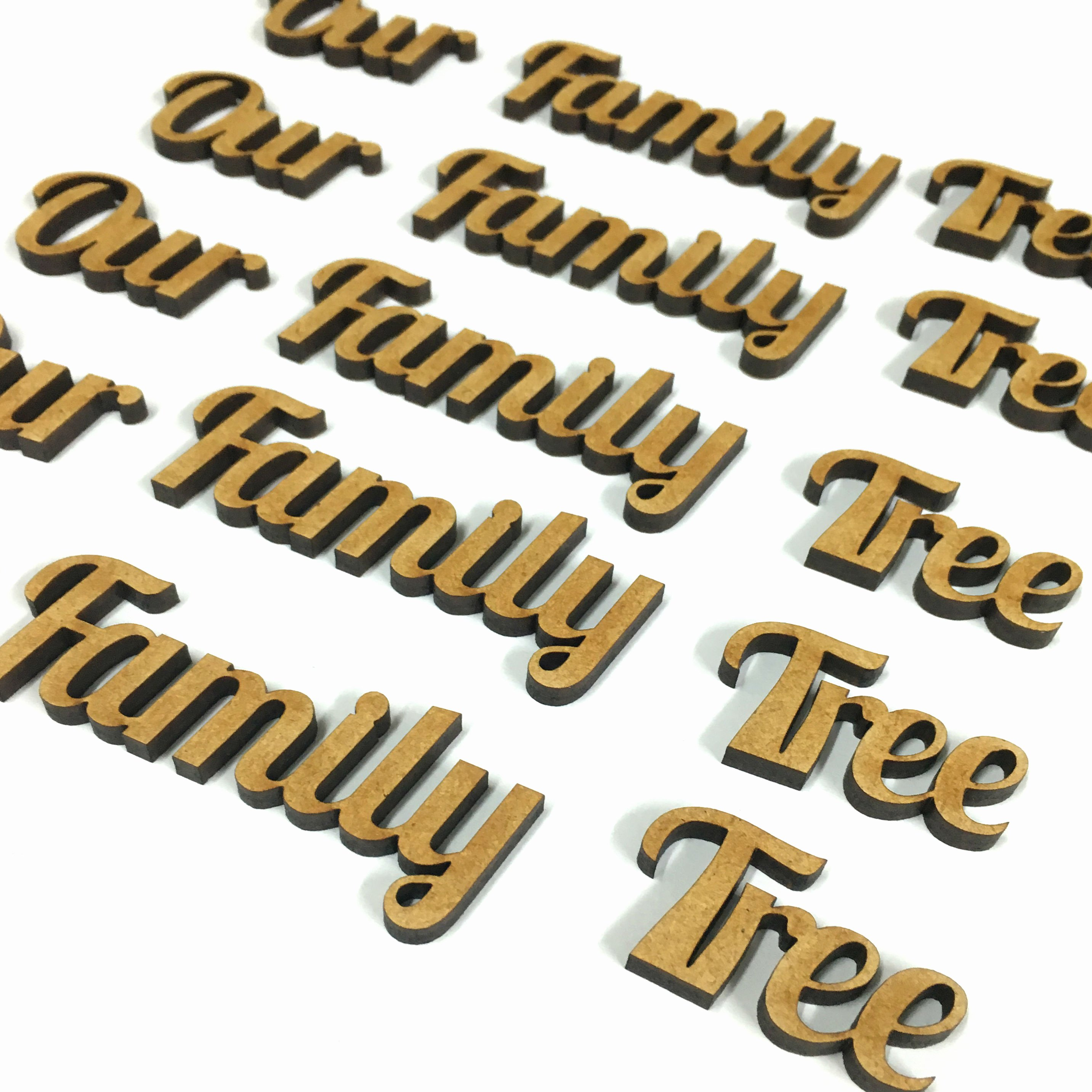 Family Tree Cut Out Awesome Pack Of 10 Wooden 4mm Mdf Our Family Tree Cut Out Words