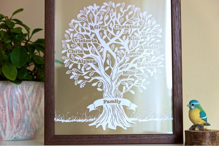 Family Tree Cut Out Elegant Cloud Family Tree Papercut