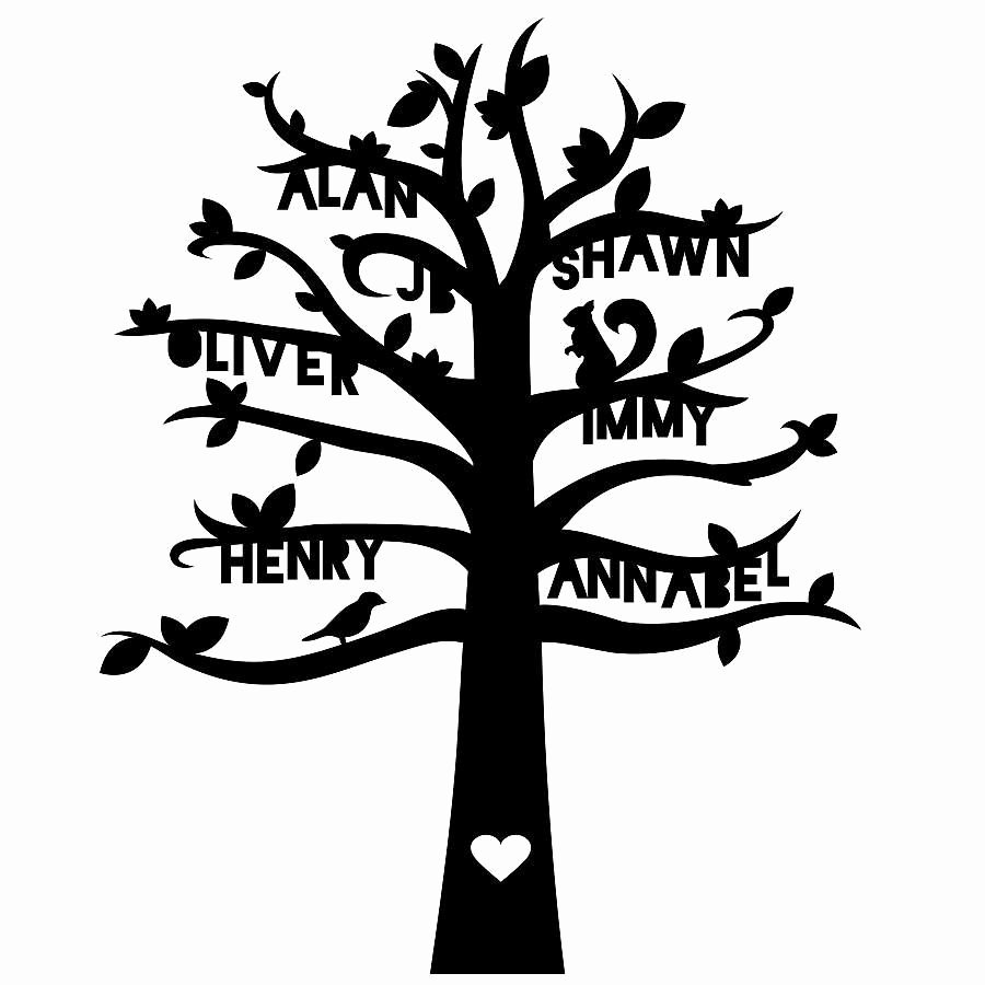 Family Tree Cut Out Fresh Personalised Family Tree Paper Cut Artwork