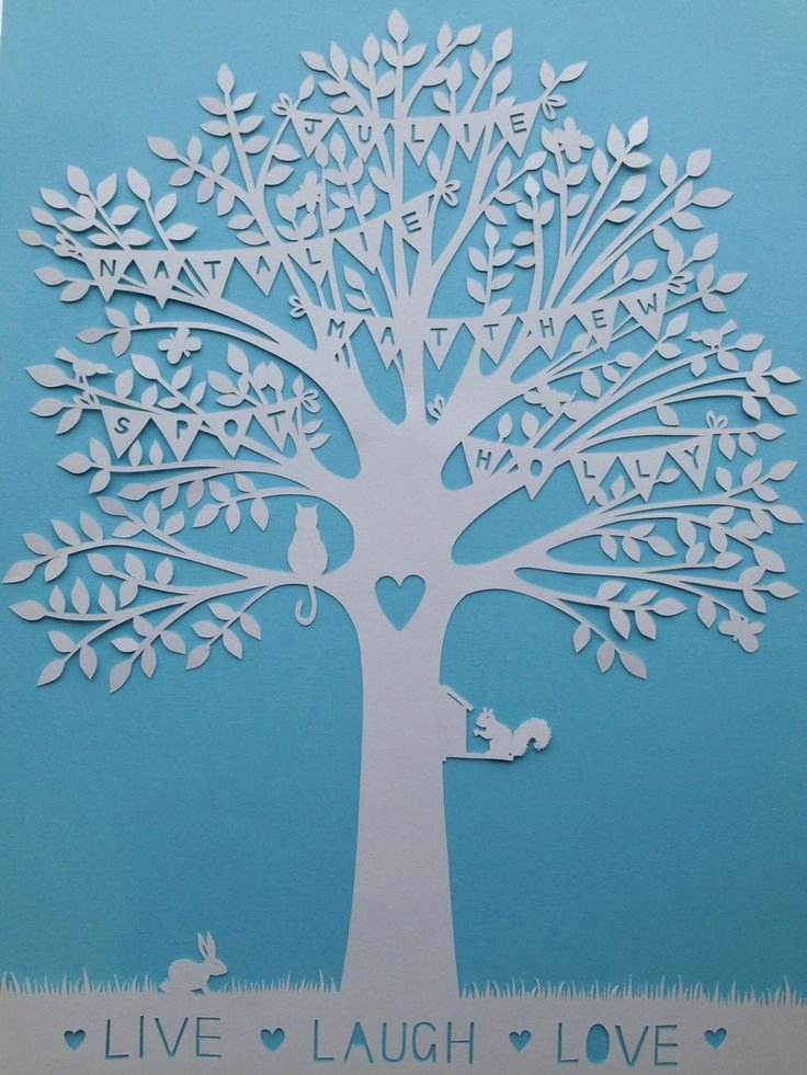 Family Tree Cut Out Inspirational 12 Best Papercut Images On Pinterest