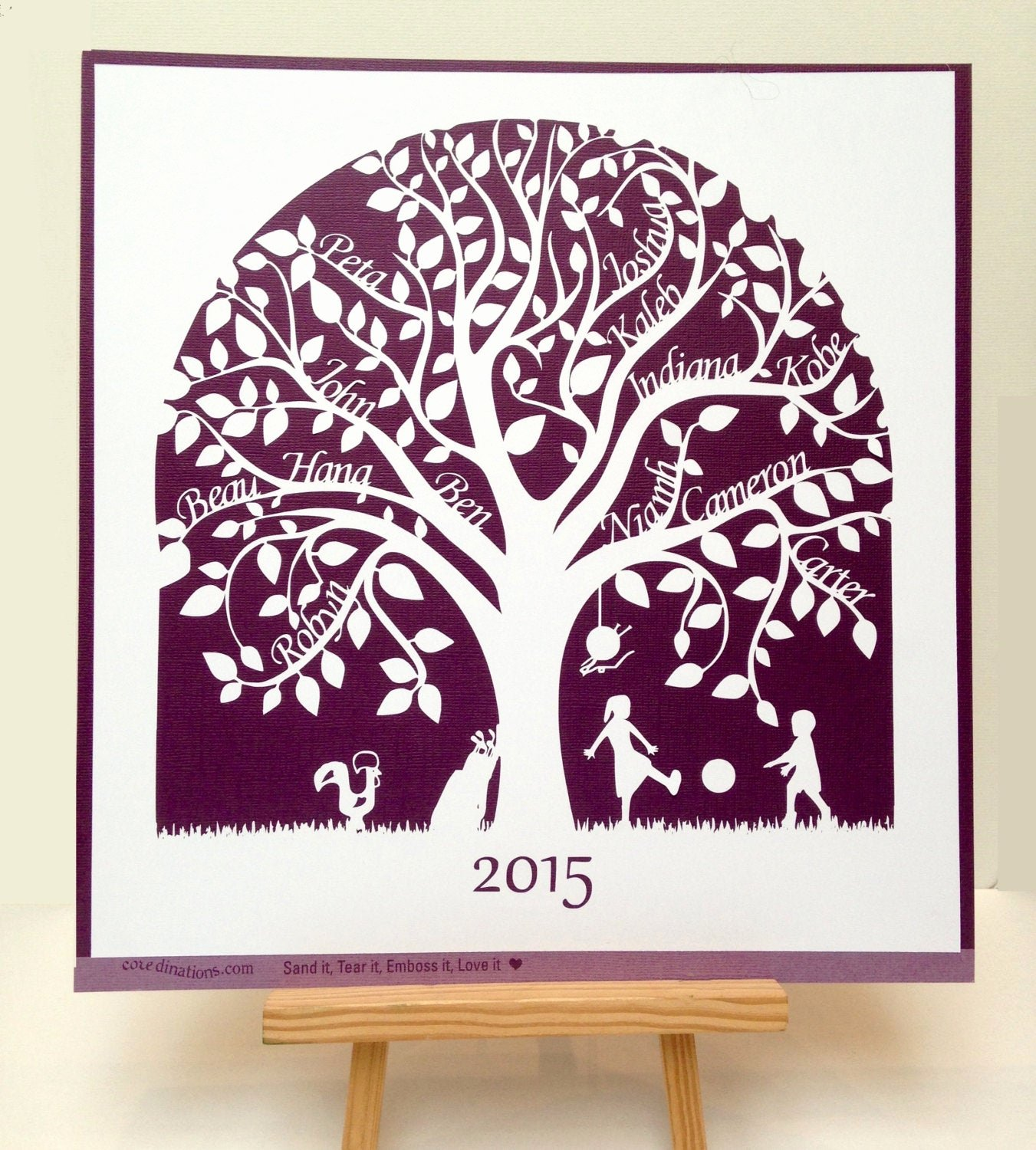 Family Tree Cut Out Inspirational Family Tree Paper Cut Home Decor Including Hobbies