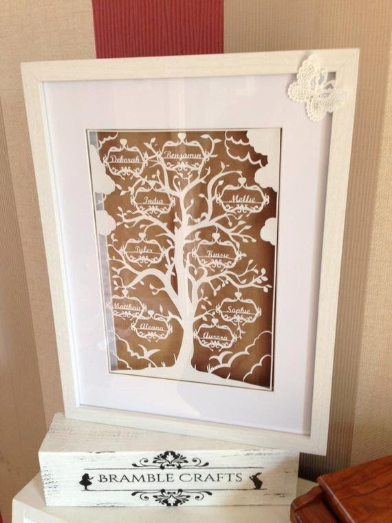 Family Tree Cut Out Lovely Family Tree Paper Cutting Template 6 Names