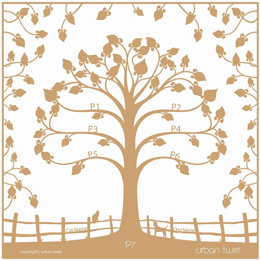 Family Tree Cut Out Lovely Personalised Traditional Family Tree Papercut by Urban