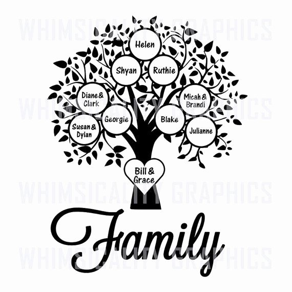 Family Tree Designs Templates Fresh Family Tree Templates Bundle Svg Dxf Eps Digital