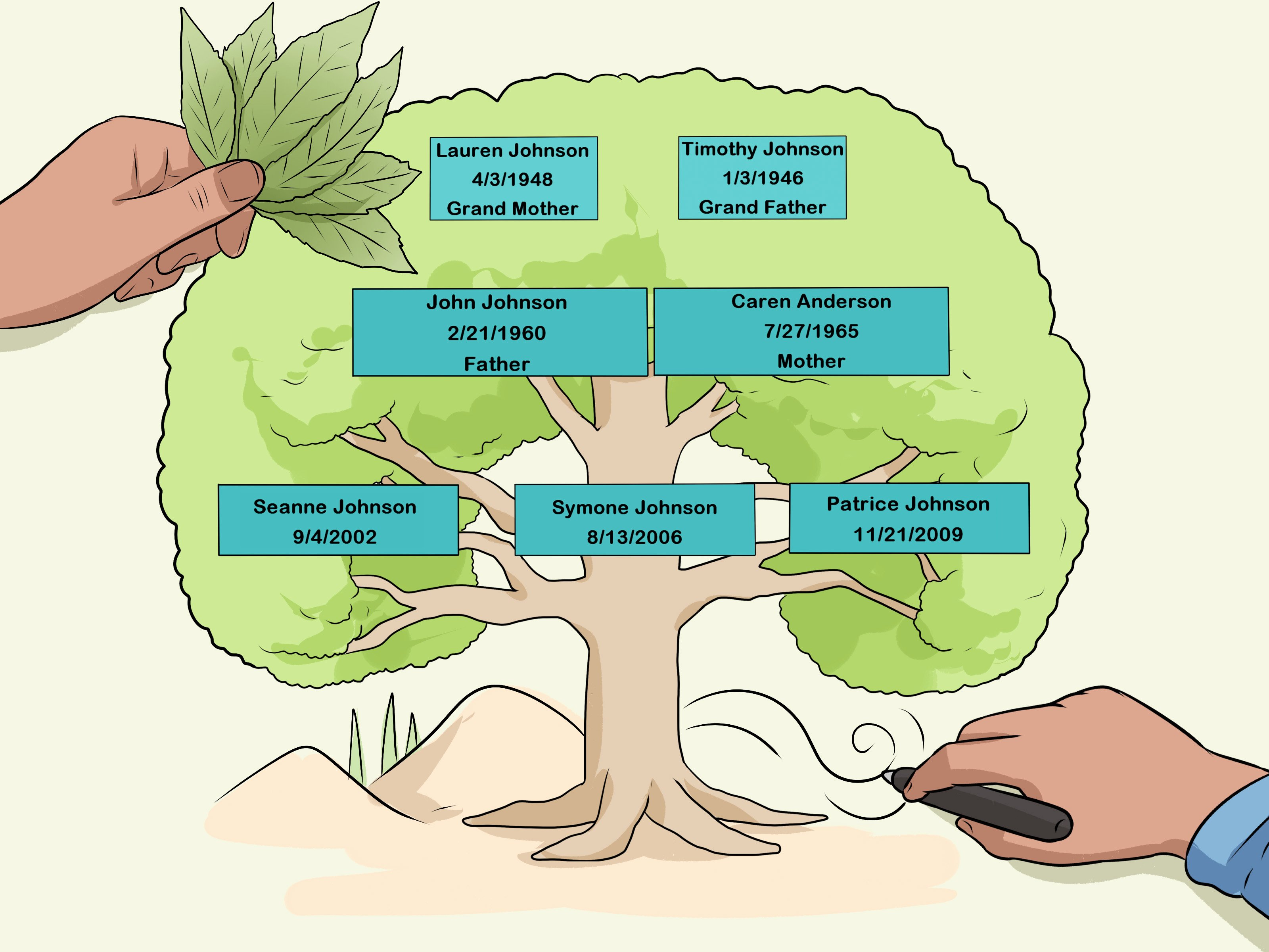 Family Tree Designs Templates Fresh How to Design A Family Tree with Wikihow