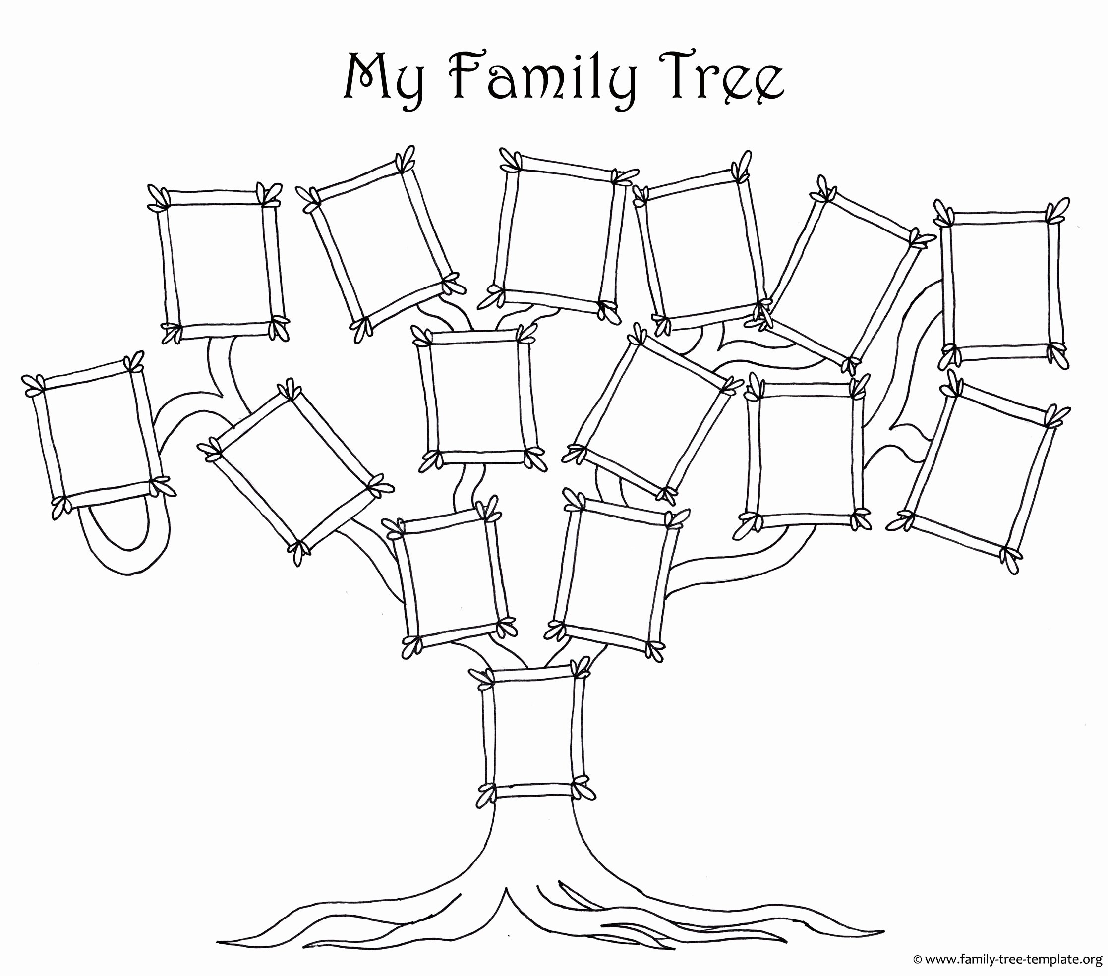 Family Tree Designs Templates New Coloring Page for Kids A Simple Fun Family Tree Chart