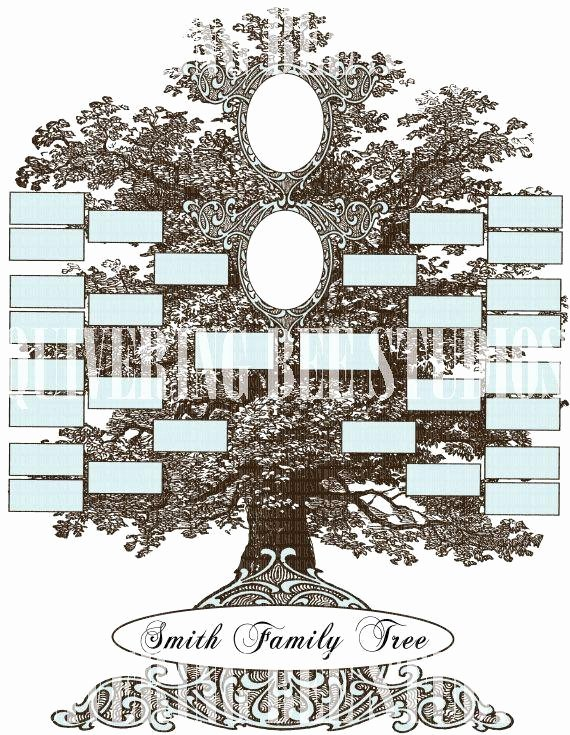 Family Tree Designs Templates Unique Family Tree Template Digital Download Scrapbooking Wedding
