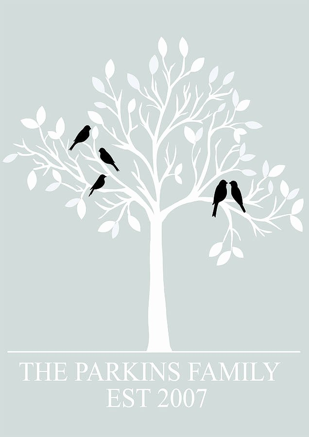 Family Tree Images to Print Beautiful Personalised Family Tree Print by Parkins Interiors