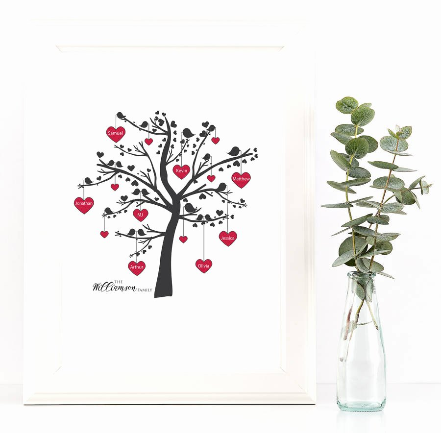 Family Tree Images to Print Fresh Lovebirds Family Tree Print by Rock Paper Stars