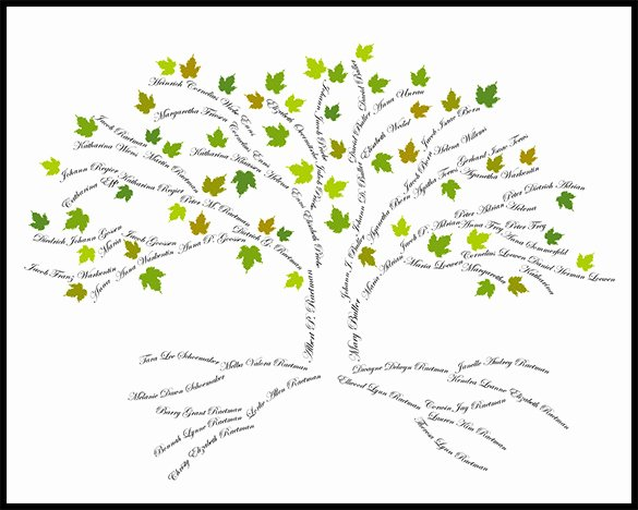Family Tree Images to Print Inspirational 15 Amazing Family Tree Art Templates & Designs