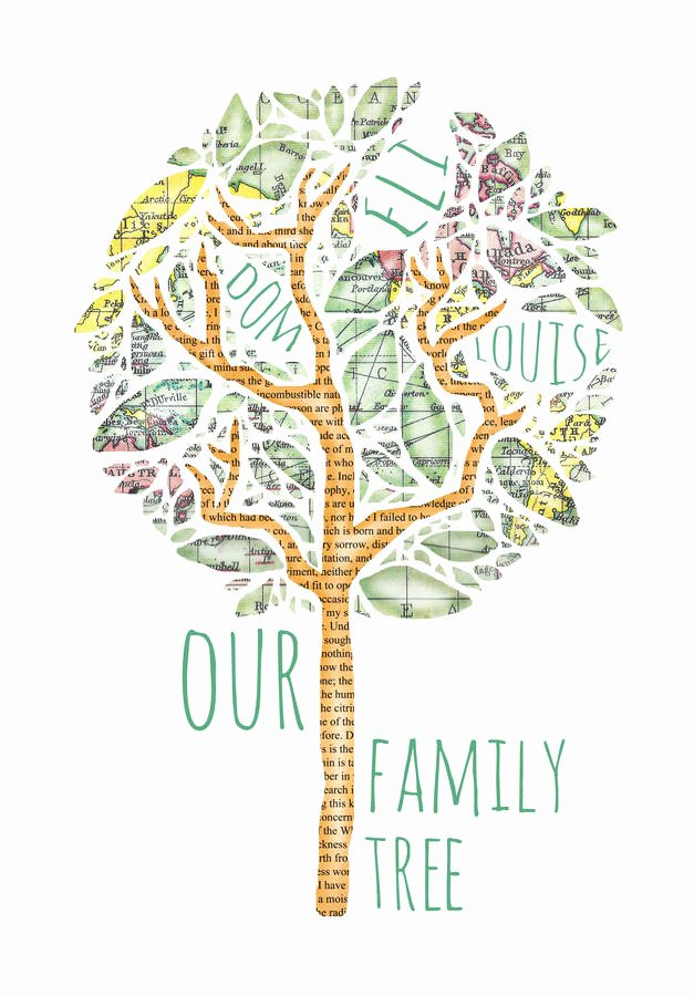 Family Tree Images to Print Luxury Family Tree Print by Bookishly