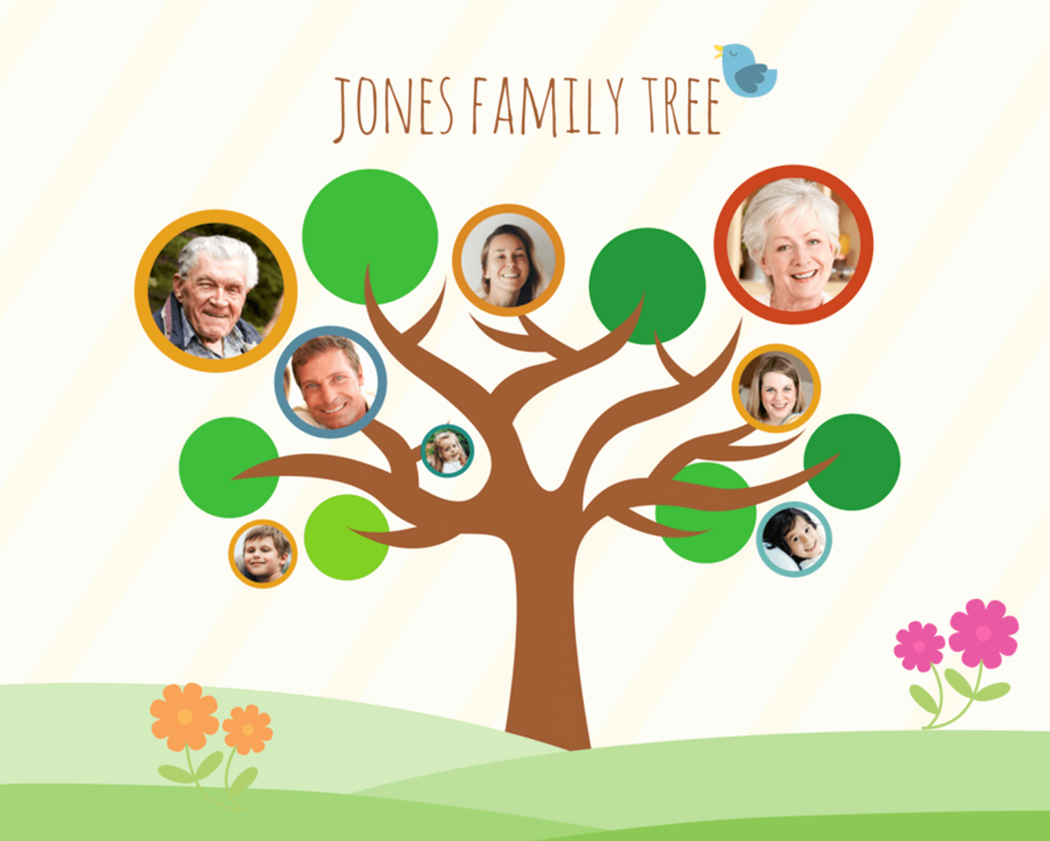 Family Tree Poster Template Awesome Free Line Family Tree Maker Design A Custom Family Tree