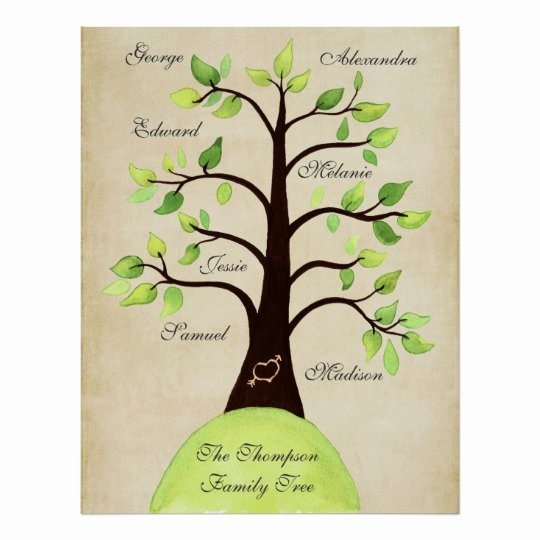 Family Tree Poster Template Best Of Create Your Own Family Tree Poster