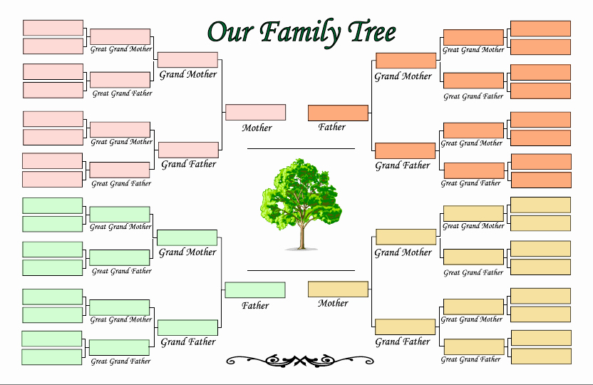 Family Tree Poster Template Fresh 4 Generation Family Tree Template Ldf1cblj