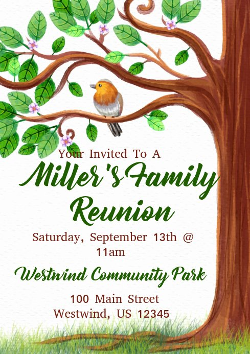 Family Tree Poster Template Luxury Family Reunion Template