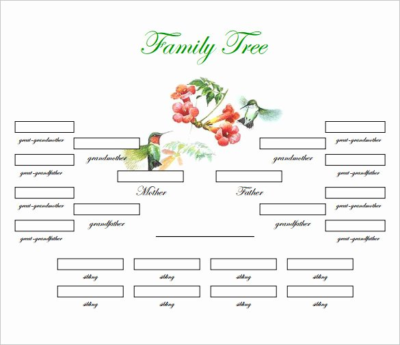 Family Tree Template Doc Beautiful Family Tree Generator Printable Printable Pages