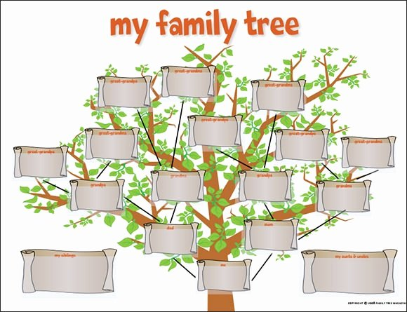 Family Tree Template Doc Best Of Family Tree Template for Kids