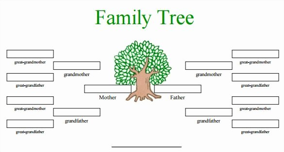 Family Tree Template Doc Fresh Blank Family Tree Template 31 Free Word Pdf Documents