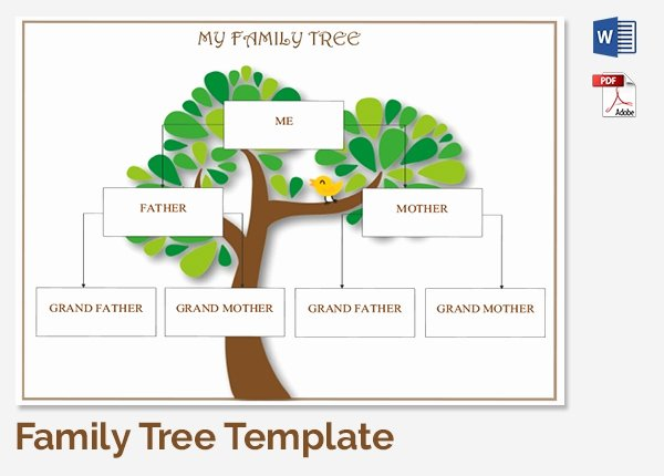 Family Tree Template Doc Fresh Family Tree Template 37 Free Printable Word Excel Pdf