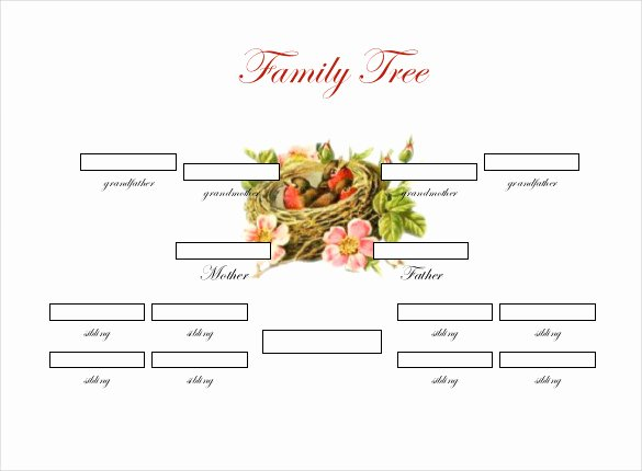 Family Tree Template Doc Lovely Family Tree Template with Siblings