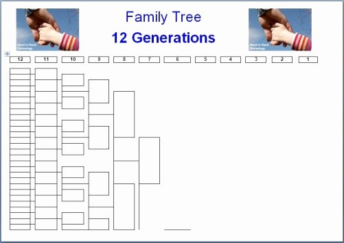 Family Tree Template Doc Unique Family Tree Charts 12 Generations Emailed Parish Chest