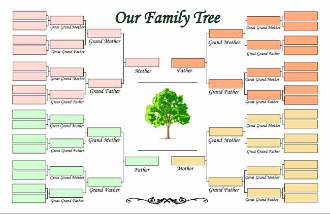 Family Tree Templates Free Online Fresh Printable Family Tree Maker Template