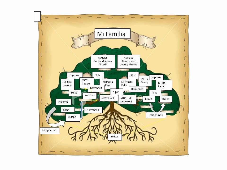 Family Tree Templates In Spanish Elegant Spanish Editable Family Tree with Siblings