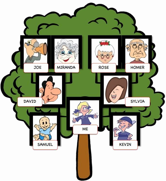 Family Tree Templates In Spanish Fresh Spanish Editable Family Tree with Siblings