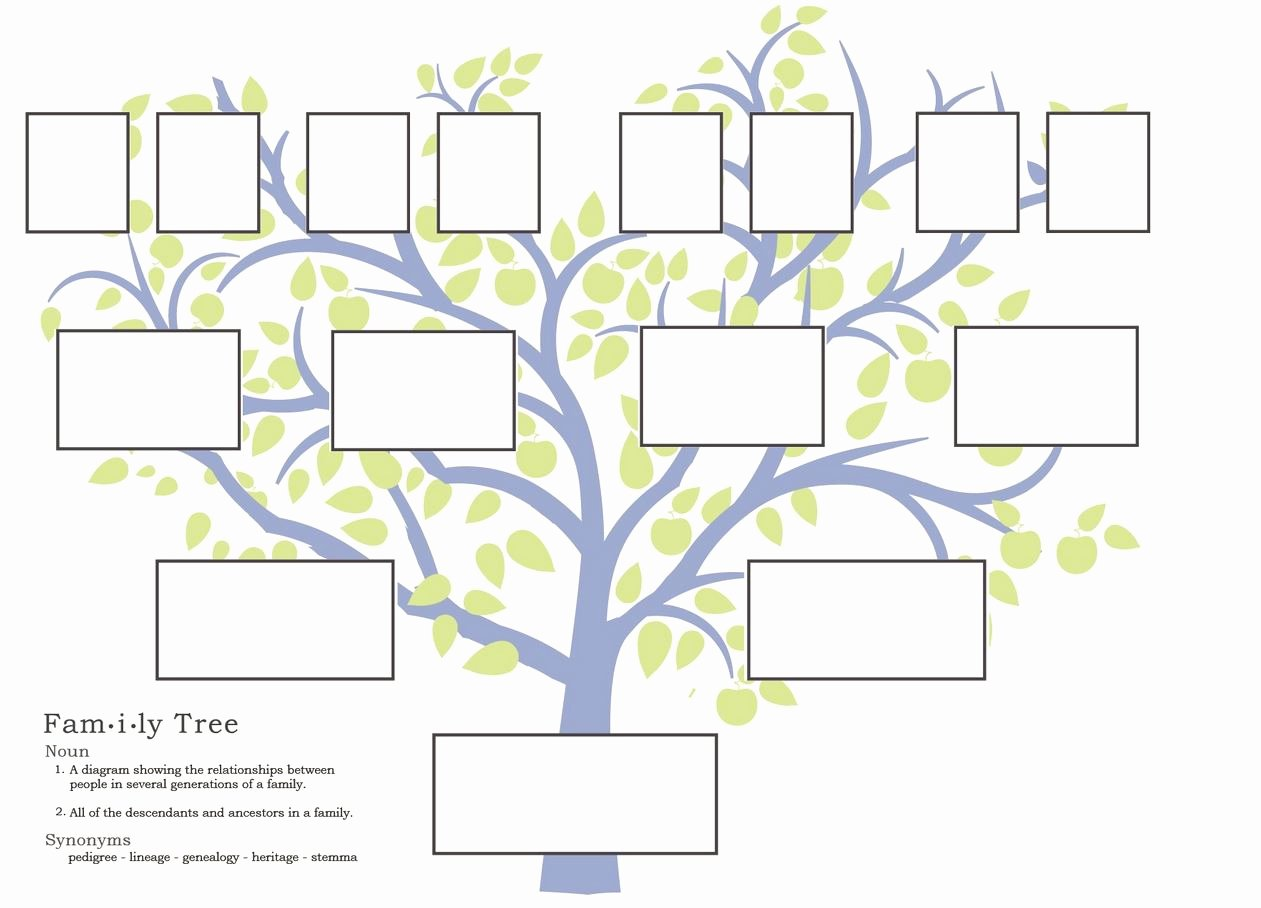 Family Tree Templates In Spanish Inspirational Family Tree Template Fotolip