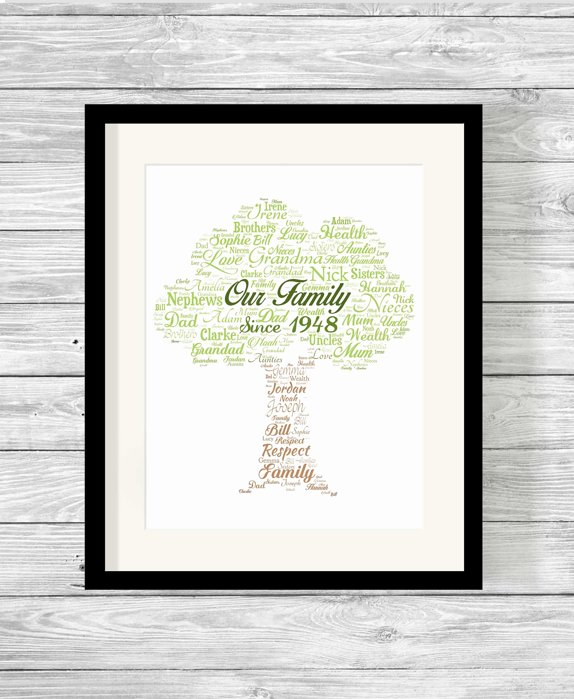 Family Tree Word Art Best Of Bespoke Personalised Our Family Tree Word Art Print Show