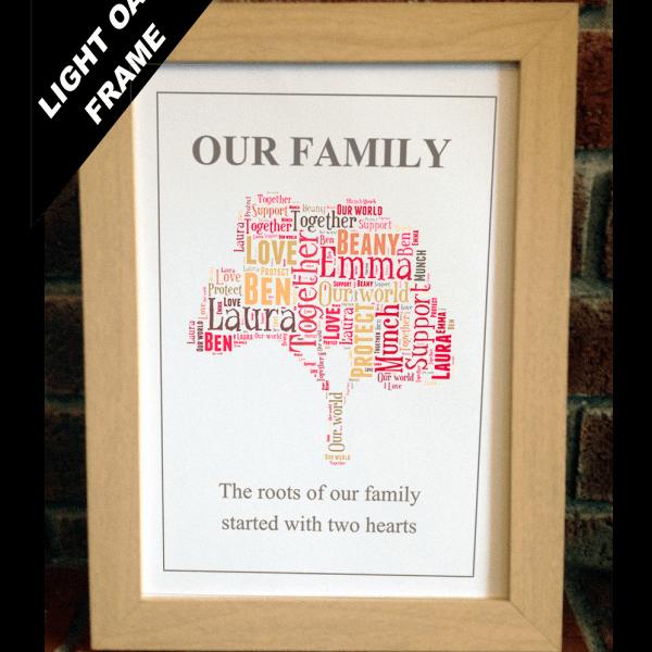 Family Tree Word Art Elegant Family Tree Word Art Print
