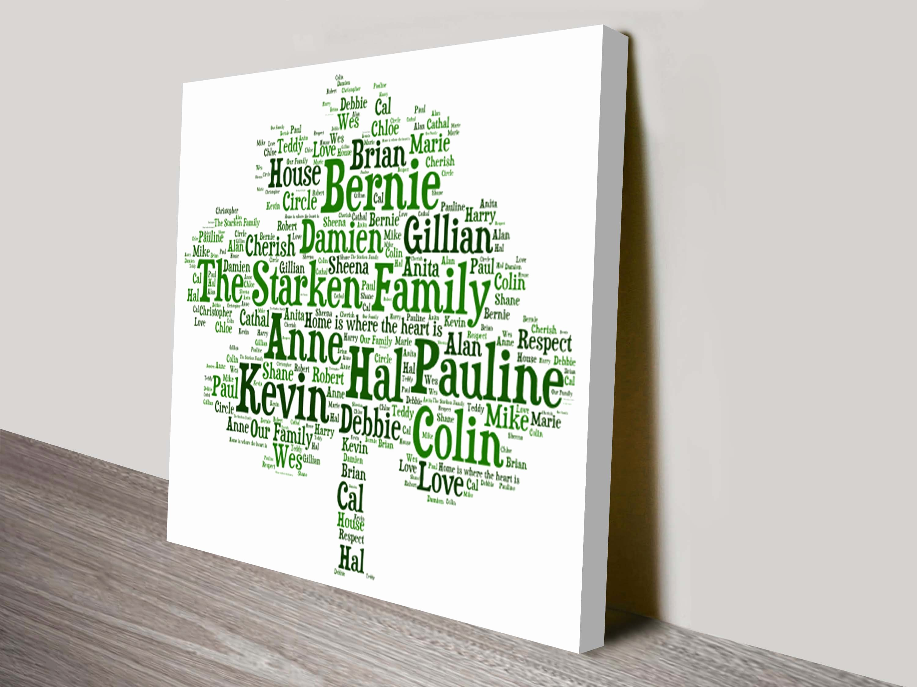 Family Tree Word Art Luxury Family Tree Personalised Word Art Gift Ideas for Family