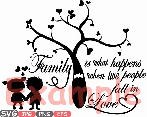 Family Tree Word Art New Family Svg Word Art Family Tree Quote Clip Art Silhouette