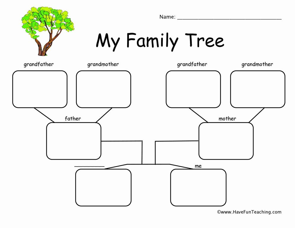 Family Tree Worksheet Printable Inspirational New 942 Family History Worksheets