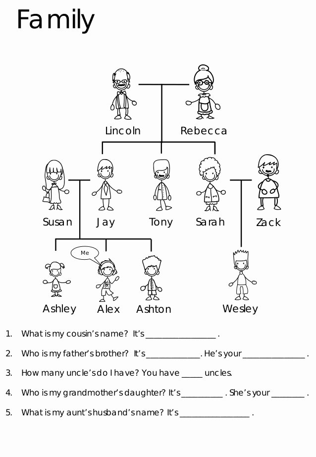 Family Tree Worksheet Printable Luxury Best 25 Family Tree for Kids Ideas On Pinterest